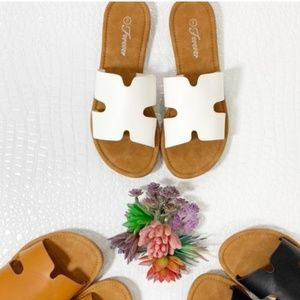 Trendy White Slide Sandal